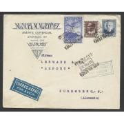 España Carta de Las Palmas a Nuremberg 1937 Correo Aéreo