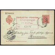 España Postal de Las Minas de San Miguel (Huelva) a Hanover 1907