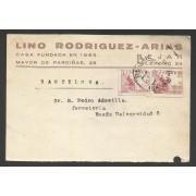 España Postal de Béjar (Salamanca)a Barcelona 1944