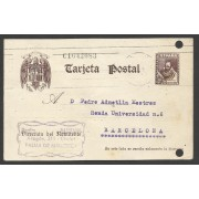 España Postal de Palma de Malloca a Barcelona 1943