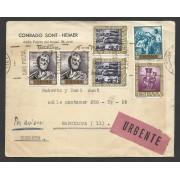 España Carta Urgente de Córdoba a Barcelona 1952