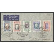 España Carta de Barcelona a Zurich 1937 Beneficencia 12/16