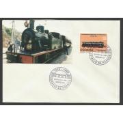 España Carta con Matasello Privado Estación de Francia tren 1992