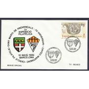 España Sobre y Matasello Círculo Filatélico San Martí de Provençals 1985