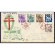 España Sobre y Matasello Pro tuberculosos 1950