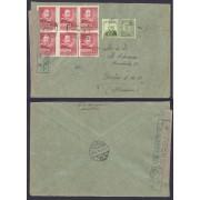España Carta Certificada de Barcelona a Berlín 1938