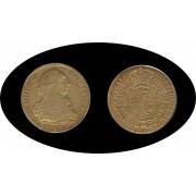 España Spain 8 Escudos Carlos Carol III 1783 Popayan SF gold