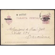 España Spain Entero Postal 61 Alfonso XIII 1933 Irún