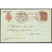 España Spain Entero Postal 47 Matasello 1906 Burgos