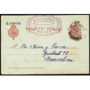 España Spain Entero Postal 49 Alfonso XIII 1917 Béjar
