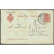 España Spain Entero Postal 49 Alfonso XIII 1917 Palencia