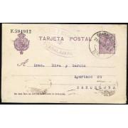 España Spain Entero Postal 50 Alfonso XIII 1921 Guadalajara