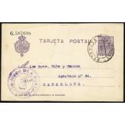 España Spain Entero Postal 50 Alfonso XIII 1921 Betanzos