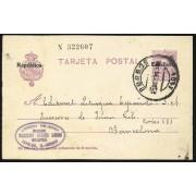España Spain Entero Postal 50 Alfonso XIII 1931 Carrión de los Condes