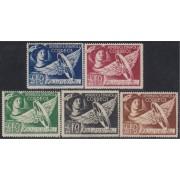 España Spain Franquicias 23/27 1938 AFO Mercurio MNH/MH