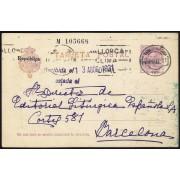 España Spain Entero Postal 61 Alfonso XIII 1931 Palma de Mallorca