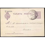 España Spain Entero Postal 50 Alfonso XIII 1925 Santiago