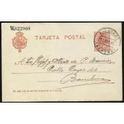 España Spain Entero Postal 49 Alfonso XIII 1915 Figueras