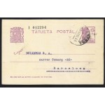 España Spain Entero Postal 69 Matrona 1933 Tárrega