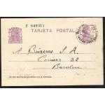 España Spain Entero Postal 69 Matrona 1935 Villafranca del Panadés