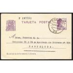 España Spain Entero Postal 69 Matasello 1936 Huesca