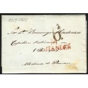 España Prefilatelia Carta de Santander a Medina de Pomar 1831
