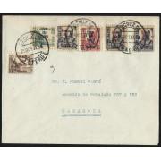 España Carta de Santa Cruz de Tenerife a Zaragoza 1937
