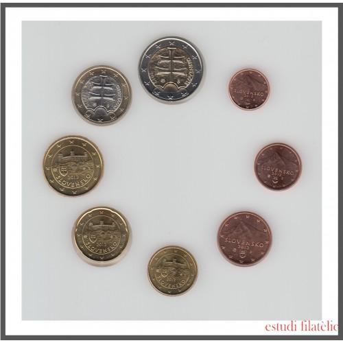 Eslovaquia 2012 Emisión monedas Sistema monetario euro € Tira