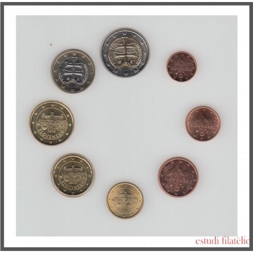 Eslovaquia 2014 Emisión monedas Sistema monetario euro € Tira