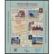 España Spain Emisión Conjunta 2000 Cuba España Hojita Exposición Mundial Filatelia