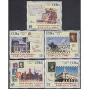 España Spain Emisión Conjunta 2000 Cuba España Exposición Mundial Filatelia
