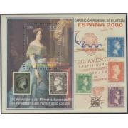 España Spain Emisión Conjunta 2000 Cuba España Exposición Mundial Filatelia HB