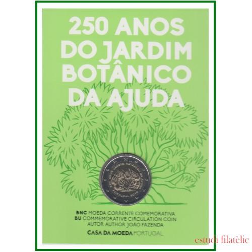 Portugal 2018 Cartera Oficial Coin Card Moneda 2 € Av. Jardín Botánico Ajuda