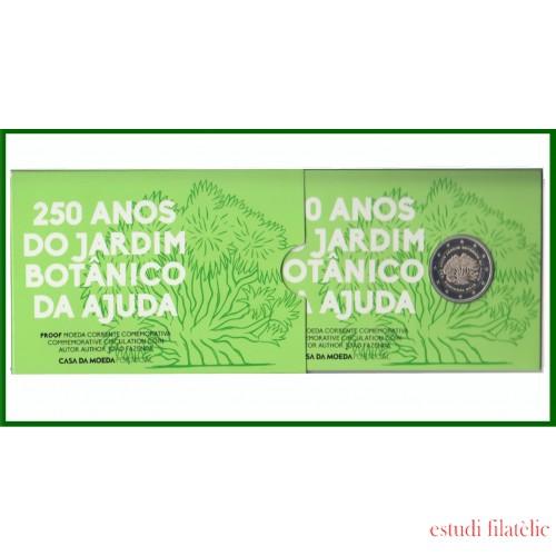 Portugal 2018 Cartera Of Coin Card Moneda Proof 2 € Av. Jardín Botánico Ajuda