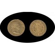 España Spain Fernando Ferdin VII 2 escudos 1823 Madrid AJ  Oro Gold Au