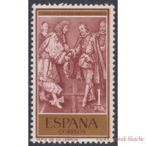 España Spain Emisión Conjunta 1959  España Francia  Tratado de los Pirineos