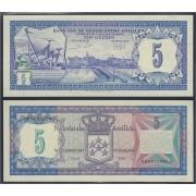 Antillas Holandesas Nederlanse Antillen 5 Guldens 1984 Billete Banknote sin circular