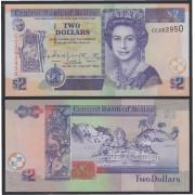 Belice Belize 2 dólares 1982 Billete Banknote Sin Circular