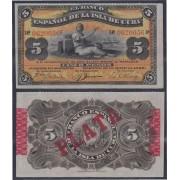 Cuba 5 pesos 1896 Billete Banknote Sin Circular