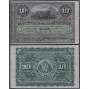 Cuba 10 pesos 1896 Billete Banknote Sin Circular