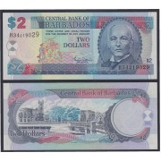 Barbados 2 dolares 2000 Billete Banknote Sin Circular