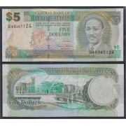 Barbados 5 dolares 2007 Billete Banknote Sin Circular