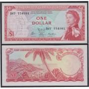 Islas del Caribe 1 dolar 1965 Billete Banknote sin circular