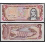 República Dominicana 5 pesos oro 1995 Billete Banknote Sin Circular