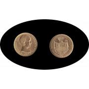 España Spain Alfonso XIII 20 ptas 1887 * 62 Reacuñación  Oro Au gold