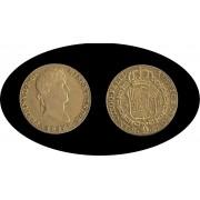 España Spain  4 escudos Fernando Ferdin VII  1815 Madrid GJ Oro Gold Au
