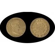 España Spain  4 escudos Fernando Ferdin VII  1814 Madrid GJ Oro Gold Au