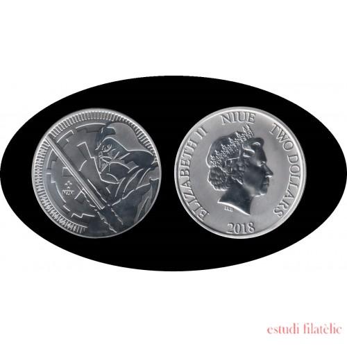 Niue 2018 1 onza Plata 2 $ 999 Ag Silver Darth Vader Stars Wars