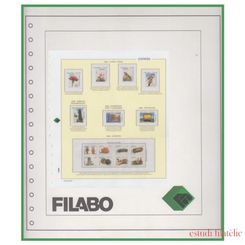 Hojas España Filabo Registro montado con protectores sellos recortados 2017