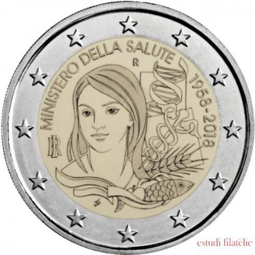 Italia 2018 2 € euros conmemorativos Ministerio de Salud